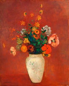 Poly Canvas Print - XXL - The Masters - Odilon Redon - Bouquet in a Chinese Vase