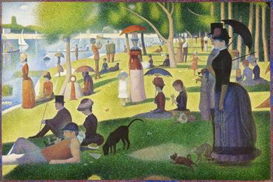 Poly Canvas Print - Float Frame - The Masters - Georges Seurat - Sunday Grande Jatte Final