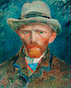 Poly Canvas Print - XXL - The Masters - Van Gogh - Self-portrait (1887)