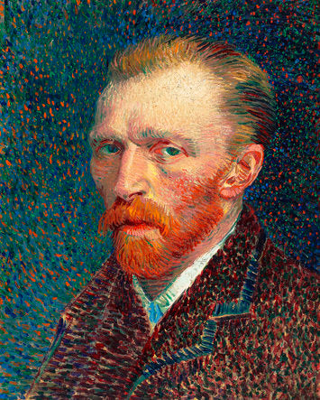 Poly Canvas Print - XXL - The Masters - Van Gogh - Self-Portrait 2 (1887)