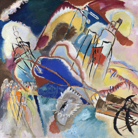 Poly Canvas Print - Float Frame - The Masters - Vasily Kandinsky - Improvisation No. 30 (Cannons)