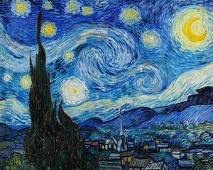 Poly Canvas Print - The Masters - Van Gogh - The Starry Night