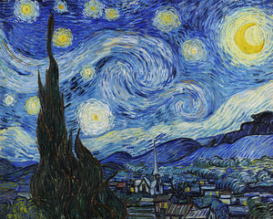 Poly Canvas Print - XXL - The Masters - Van Gogh - The Starry Night