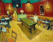 Load image into Gallery viewer, Poly Canvas Print - Float Frame - The Masters - Van Gogh - Le café de nuit (The Night Café)