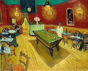 Poly Canvas Print - The Masters - Van Gogh - Le café de nuit (The Night Café)