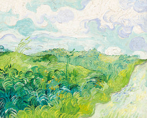 Poly Canvas Print - The Masters - Van Gogh - Green Wheat Fields, Auvers