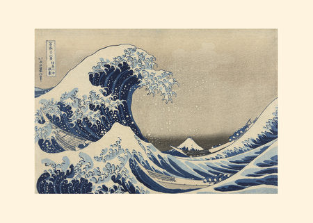Poly Canvas Print - Float Frame - The Masters - Hokusai - Under the Wave off Kanagawa