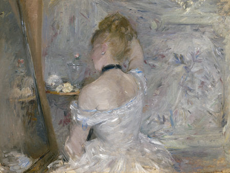 Poly Canvas Print - Float Frame - The Masters - Berthe Morisot - Woman at Her Toilette