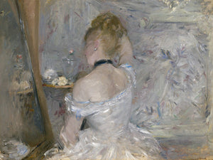 Poly Canvas Print - XXL - The Masters - Berthe Morisot - Woman at Her Toilette
