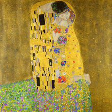 Load image into Gallery viewer, Poly Canvas Print - Float Frame - The Masters - Gustav Klimt - The Kiss