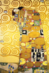 Poly Canvas Print - Float Frame - The Masters - Gustav - Klimt - Die Umarmung - The Embrace
