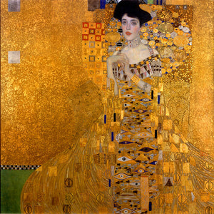 Poly Canvas Print - The Masters - Gustav Klimt - Portrait of Adele Bloch-Bauer