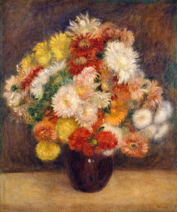 Poly Canvas Print - Float Frame - The Masters - Auguste Renoir - Bouquet of Chrysanthemums
