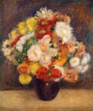 Poly Canvas Print - XXL - The Masters - Auguste Renoir - Bouquet of Chrysanthemums
