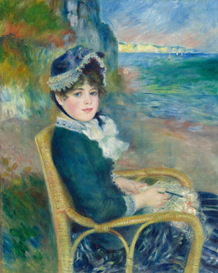 Poly Canvas Print - XXL - The Masters - Auguste Renoir - By the Seashore