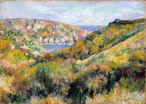 Poly Canvas Print - Float Frame - The Masters - Auguste Renoir - Hills around the Bay of Moulin Huet, Guernsey