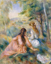 Load image into Gallery viewer, Poly Canvas Print - Float Frame - The Masters - Auguste Renoir - In the Meadow