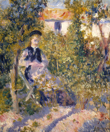 Poly Canvas Print - Float Frame - The Masters - Auguste Renoir - Nini in the Garden (Nini Lopez)