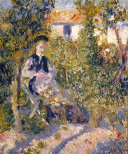 Load image into Gallery viewer, Poly Canvas Print - The Masters - Auguste Renoir - Nini in the Garden (Nini Lopez)