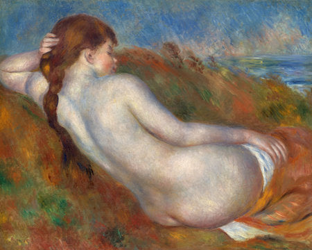 Poly Canvas Print - Float Frame - The Masters - Auguste Renoir - Reclining Nude