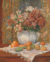 Load image into Gallery viewer, Poly Canvas Print - Float Frame - The Masters - Auguste Renoir - Still Life with Flowers and Prickly Pears