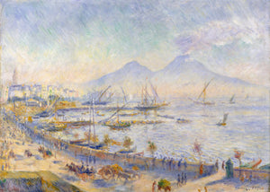 Poly Canvas Print - The Masters - Auguste Renoir - The Bay of Naples