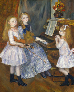 Poly Canvas Print - Float Frame - The Masters - Auguste Renoir - The Daughters of Catulle Mendès, Huguette, Claudine, and Helyonne