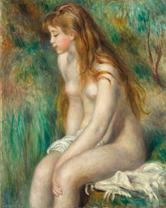Poly Canvas Print - The Masters - Auguste Renoir - Young Girl Bathing