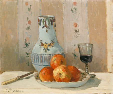 Poly Canvas Print - The Masters - Camille Pissarro - Still Life with Apples and Pitcher