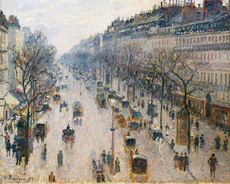 Poly Canvas Print - Float Frame - The Masters - Camille Pissarro - The Boulevard Montmartre on a Winter Morning