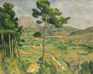 Poly Canvas Print - The Masters - Paul Cézanne - Mont Sainte-Victoire and the Viaduct of the Arc River Valley