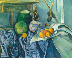 Poly Canvas Print - XXL - The Masters - Paul Cézanne - Still Life with a Ginger Jar and Eggplants