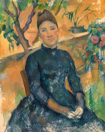 Poly Canvas Print - Float Frame - The Masters - Paul Cézanne - Madame Cézanne (Hortense Fiquet, 1850–1922) in the Conservatory