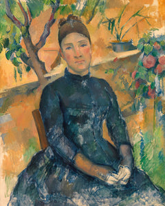 Poly Canvas Print - The Masters - Paul Cézanne - Madame Cézanne (Hortense Fiquet, 1850–1922) in the Conservatory