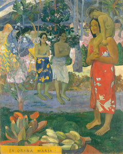 Poly Canvas Print - The Masters - Paul Gauguin - La Orana Maria (Hail Mary)
