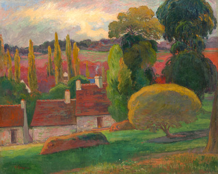 Poly Canvas Print - XXL - The Masters - Paul Gauguin - A Farm in Brittany