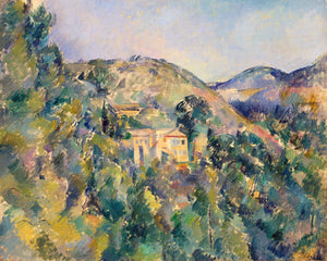 Poly Canvas Print - XXL - The Masters - Paul Cézanne - View of the Domaine Saint-Joseph