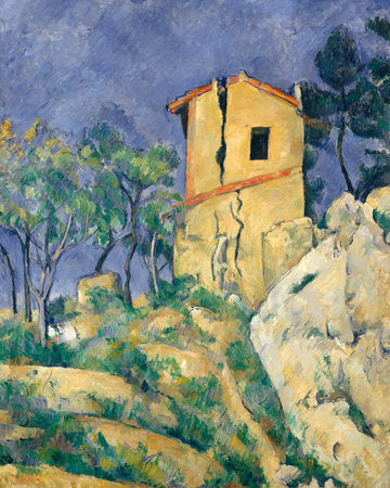 Poly Canvas Print - XXL - The Masters - Paul Cézanne - The House with the Cracked Walls
