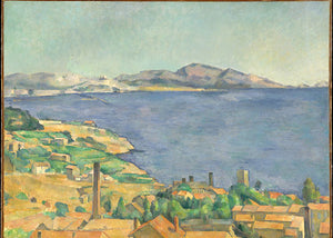 Poly Canvas Print - Float Frame - The Masters - Paul Cézanne - The Gulf of Marseilles Seen from L'Estaque