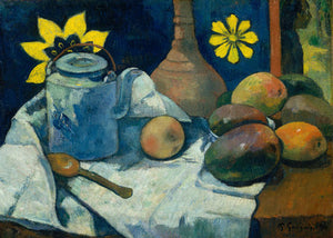 Poly Canvas Print - Float Frame - The Masters - Paul Gauguin - Still Life with Teapot and Fruit