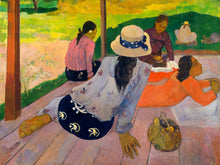 Load image into Gallery viewer, Poly Canvas Print - The Masters - Paul Gauguin - The Siesta