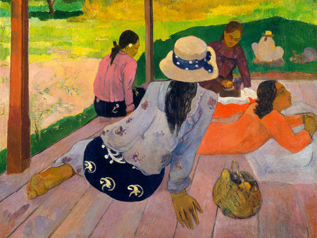Poly Canvas Print - The Masters - Paul Gauguin - The Siesta