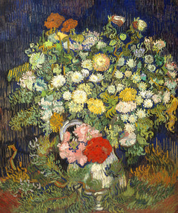 Poly Canvas Print - XXL - The Masters - Van Gogh - Bouquet of Flowers in a Vase