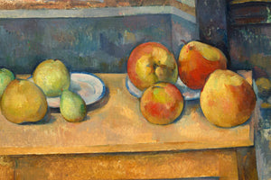 Poly Canvas Print - Float Frame - The Masters - Paul Cézanne - Still Life with Apples and Pears