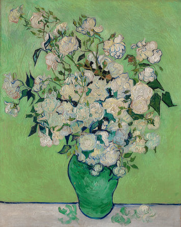 Poly Canvas Print - The Masters - Van Gogh - Roses