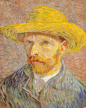 Load image into Gallery viewer, Poly Canvas Print - Float Frame - The Masters - Van Gogh - Self-Portrait with a Straw Hat (obverse- The Potato Peeler)