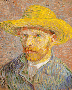 Poly Canvas Print - XXL - The Masters - Van Gogh - Self-Portrait with a Straw Hat (obverse- The Potato Peeler)