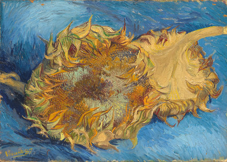 Poly Canvas Print - The Masters - Van Gogh - Sunflowers