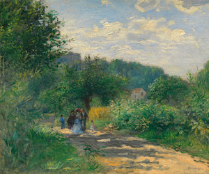 Poly Canvas Print - The Masters - Auguste Renoir - A Road in Louveciennes