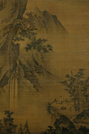 Poly Canvas Print - Float Frame - The Masters - Zhong Li - Scholar looking at a waterfall late 15th century